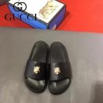 GUCCI鞋子-0006-5 獨家最新原版防滑耐磨大底牛皮五金打釘立體圖案最新款拖鞋
