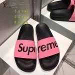 LV鞋子-0017-4 superme定制款牛皮面料羊皮內裡聯名爆款拖鞋