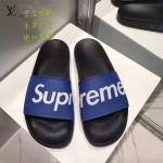 LV鞋子-0018-7 superme定制款牛皮面料羊皮內裡拖鞋