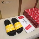 LV鞋子-0018-3 superme定制款牛皮面料羊皮內裡拖鞋