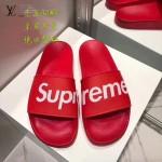 LV鞋子-0017 superme定制款牛皮面料羊皮內裡聯名爆款拖鞋