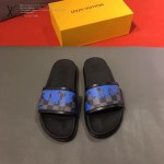 LV鞋子-0019 路易威登經典格子印花原版拖鞋