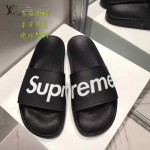 LV鞋子-0017-3 superme定制款牛皮面料羊皮內裡聯名爆款拖鞋