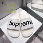 LV鞋子-0017-2 superme定制款牛皮面料羊皮內裡聯名爆款拖鞋