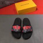 LV鞋子-0019-2 路易威登經典格子印花原版拖鞋
