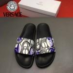 VERSACE鞋子-0034-2 范思哲2017年最新款牛皮印花組合大底拖鞋