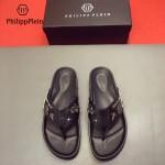 PHILIPP PLEIN鞋子-0028 菲利普•普萊茵涼鞋個性牛徽章原版骷髏頭PP大底拖鞋