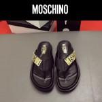 MOSCHINO鞋子-0026-2 莫斯奇諾進口原版牛皮真空鍍金五金新款拖鞋