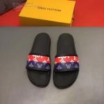 LV鞋子-0021 路易威登老花拼色對接完美設計原版拖鞋