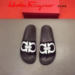 Ferrragamo鞋子-0030-2 菲拉格慕牛皮彩印舒適款官網最新款新穎男士拖鞋