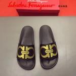 Ferrragamo鞋子-0030-3 菲拉格慕牛皮彩印舒適款官網最新款新穎男士拖鞋