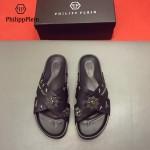 PHILIPP PLEIN鞋子-0028-2 菲利普•普萊茵涼鞋個性牛徽章原版骷髏頭PP大底拖鞋