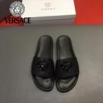 VERSACE鞋子-0031 范思哲2017最新款拖鞋原版牛皮打釘拖鞋