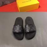 LV鞋子-0020-3 路易威登經典花紋原版拖鞋