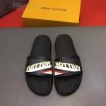 LV鞋子-0025 路易威登英文字母拼色撞色原版拖鞋