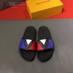 LV鞋子-0022-2 路易威登拼色撞色原版拖鞋