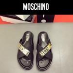 MOSCHINO鞋子-0026-3 莫斯奇諾進口原版牛皮真空鍍金五金新款拖鞋