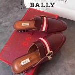 BALLY鞋子-001-3 巴利官網同步進口小牛皮配織帶拖鞋單鞋