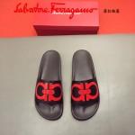 Ferrragamo鞋子-0030 菲拉格慕牛皮彩印舒適款官網最新款新穎男士拖鞋