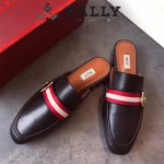 BALLY鞋子-001 巴利官網同步進口小牛皮配織帶拖鞋單鞋