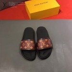 LV鞋子-0020-2 路易威登經典花紋原版拖鞋