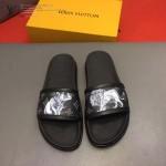 LV鞋子-0023-2 路易威登左犀牛右怒獅完美圖案設計原版拖鞋