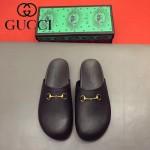 GUCCI鞋子-0036 原版牛皮迪士尼系列萌寵男士半拖拖鞋