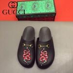 GUCCI鞋子-0036-8 原版牛皮迪士尼系列萌寵男士半拖拖鞋