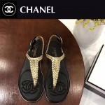 CHANEL鞋子-0012-5 香奈兒春夏度假系列純手工編織平底夾趾涼鞋