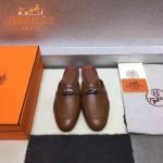 HERMES鞋子-0010 愛馬仕春夏新款經典皮扣配原版定制帆布平底拖鞋