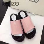 Kenzo鞋子-002-3 高田賢三時尚最新款鞋面牛漆皮橡膠eva大底拖鞋按摩鞋