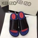 Kenzo鞋子-002 高田賢三時尚最新款鞋面牛漆皮橡膠eva大底拖鞋按摩鞋