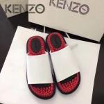 Kenzo鞋子-002-2 高田賢三時尚最新款鞋面牛漆皮橡膠eva大底拖鞋按摩鞋