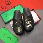 GUCCI鞋子-0036-3 原版牛皮迪士尼系列萌寵男士半拖拖鞋