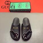GUCCI鞋子-0036-9 原版牛皮迪士尼系列萌寵男士半拖拖鞋