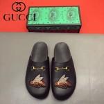 GUCCI鞋子-0036-6 原版牛皮迪士尼系列萌寵男士半拖拖鞋