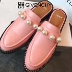 GIVENCHY鞋子-002-3 紀梵希百搭新款珍珠裝飾進口小牛皮平底拖鞋