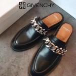 GIVENCHY鞋子-002-2 紀梵希百搭新款鏈條裝飾進口小牛皮平底拖鞋