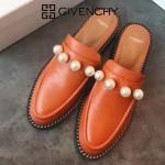 GIVENCHY鞋子-002-5 紀梵希百搭新款珍珠裝飾進口小牛皮平底拖鞋