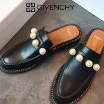 GIVENCHY鞋子-002-4 紀梵希百搭新款鏈條裝飾進口小牛皮平底拖鞋