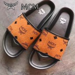 MCM鞋子-001-3 夏季新款經典專供canvascoated皮料平底拖鞋沙灘鞋