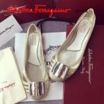 Ferragamo鞋子-001-3 菲拉格慕人氣經典款鞋面金屬扣配塑膠材質平底果凍鞋