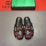 Gucci鞋子-009-6 專櫃紀念Gucci+Disney聯名款萌寵原版牛皮平底拖鞋