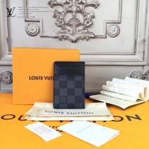 LV-62666 原單Monogram Eclipse帆布裁製而成卡片包