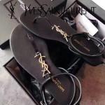 YSL鞋子-001-2 聖羅蘭時尚原版定制進口牛皮平底夾趾涼鞋