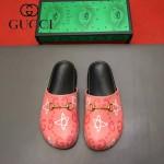 Gucci鞋子-009-4 專櫃紀念Gucci+Disney聯名款萌寵原版牛皮平底拖鞋