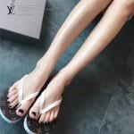 LV鞋子-003-4 路易威登專櫃限量紀念版經典老花平底人字拖沙灘鞋