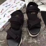 Sue comma Bonnie-001-2 明星同款進口帆布配皮運動厚底涼鞋