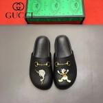 Gucci鞋子-009-2 專櫃紀念Gucci+Disney聯名款萌寵原版牛皮平底拖鞋