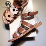 MICHAEL KORS鞋子-001-2 春夏最新楊冪同款花朵進口牛皮鞋面平跟涼鞋羅馬鞋